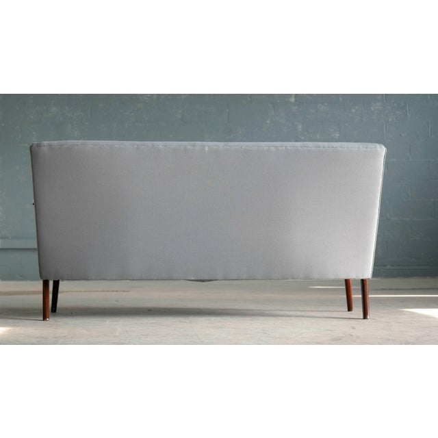 Sven Skipper Attributed 1950s Small Sofa in Wool and Teak Danish, Midcentury For Sale - Image 10 of 11