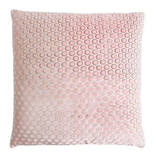 Blush Dots Velvet Pillow
