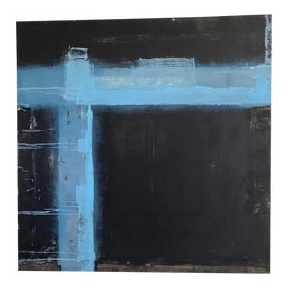 Abstract Black and Blue by Kimberly Moore For Sale