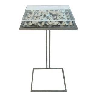 New Custom Tommy Mitchell Metal Butterfly Accent Table