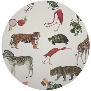 """Nicolette Mayer Exotix Natural 16"""" Round Pebble Placemats, Set of 4 For Sale"""