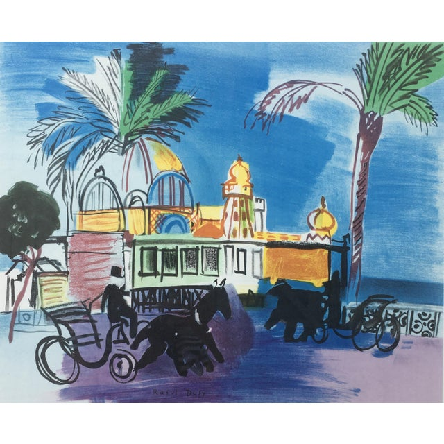 Wood Vintage 1950s French Exhibition Poster by Raoul Dufy For Sale - Image 7 of 10