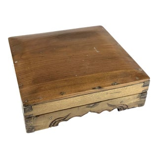 Antique Asian Treasure Wooden Box For Sale