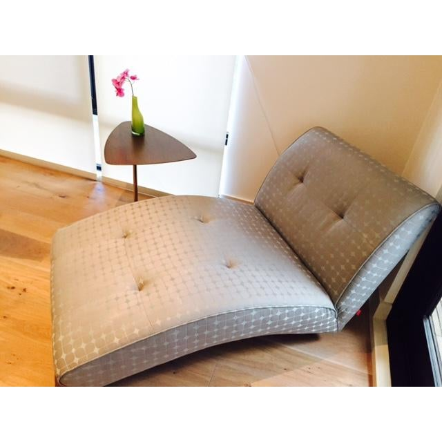 Blue Modern Upholstered Chaise Lounge For Sale - Image 8 of 8