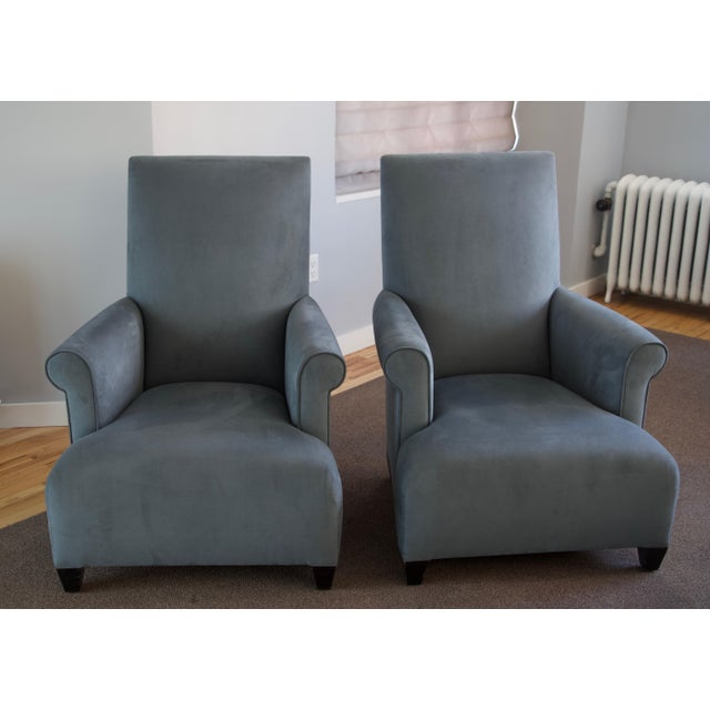 Donghia Club Chairs Set 2 For Sale - Image 13 of 13