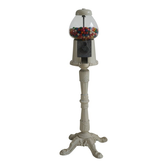 Shabby Chic Tall Gumball Machine For Sale