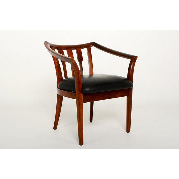 Mid-Century Modern Set of Four Custom Walnut Chairs For Sale In San Diego - Image 6 of 7