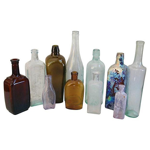 Antique Multicolor Bottle Collection - Set of 11 - Image 1 of 2