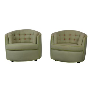 Mid-Century Barrel Back Chairs - a Pair For Sale