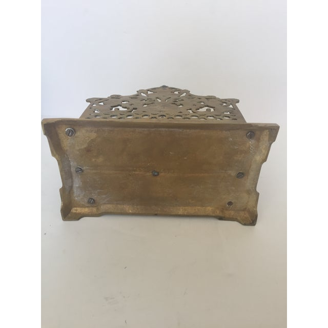 Decorative Brass Ornate Letter Holder For Sale - Image 5 of 5