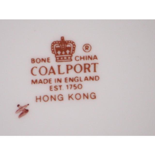 Bone Coalport Hong Kong Pattern Bone China Dinner Plate For Sale - Image 7 of 8
