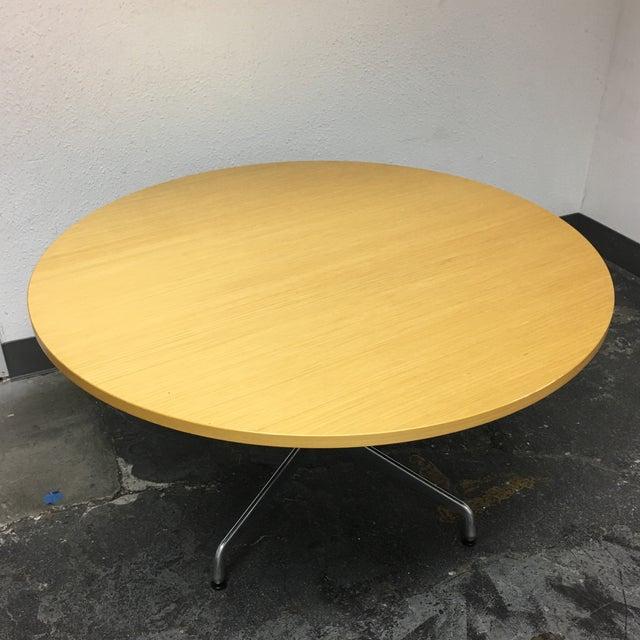 Herman Miller Eames Round Ash Dining Table - Image 4 of 8