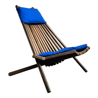 Mid-Century Modern Teak Slatted Folding Chair For Sale