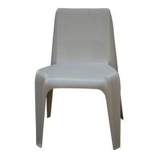 1960s Vintage Helmut Batzner White Space Age Bofinger Chair For Sale