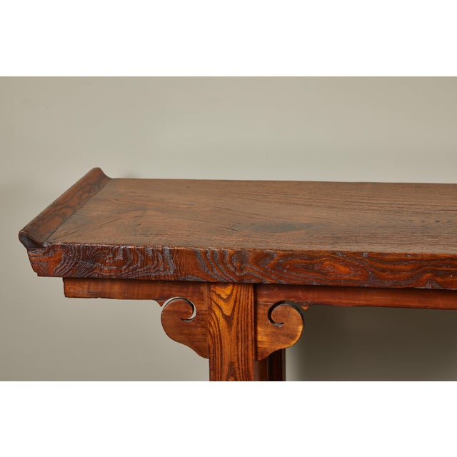 18th Century Ming Scroll Console Table For Sale In Los Angeles - Image 6 of 10