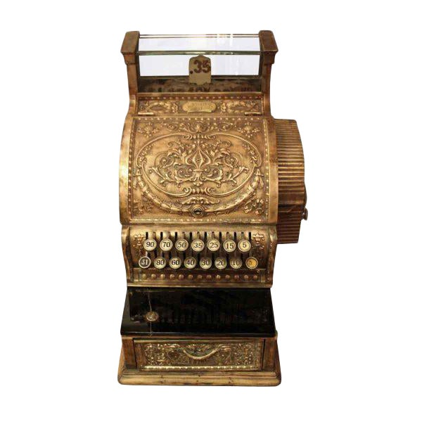Antique Bronze Cash Register - Image 1 of 4