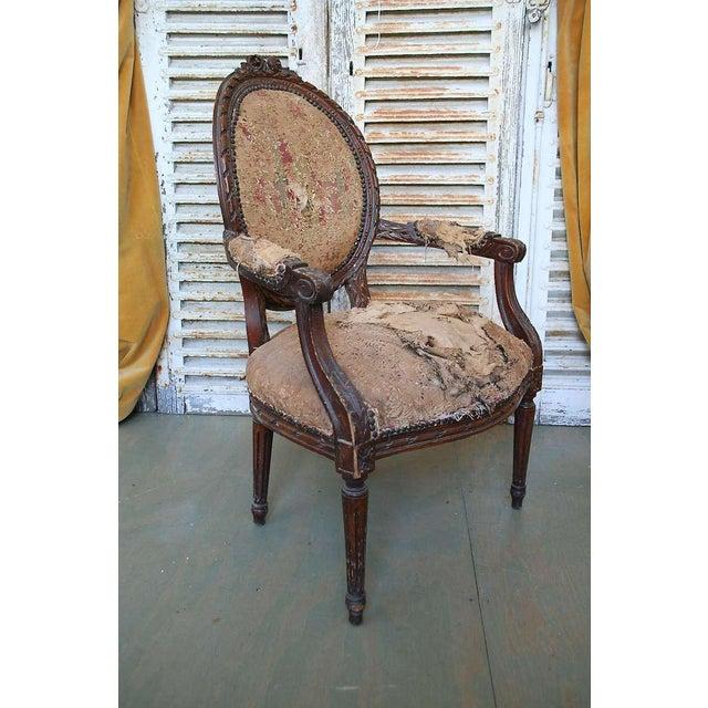 Louis XVI Style Armchair - Image 4 of 9