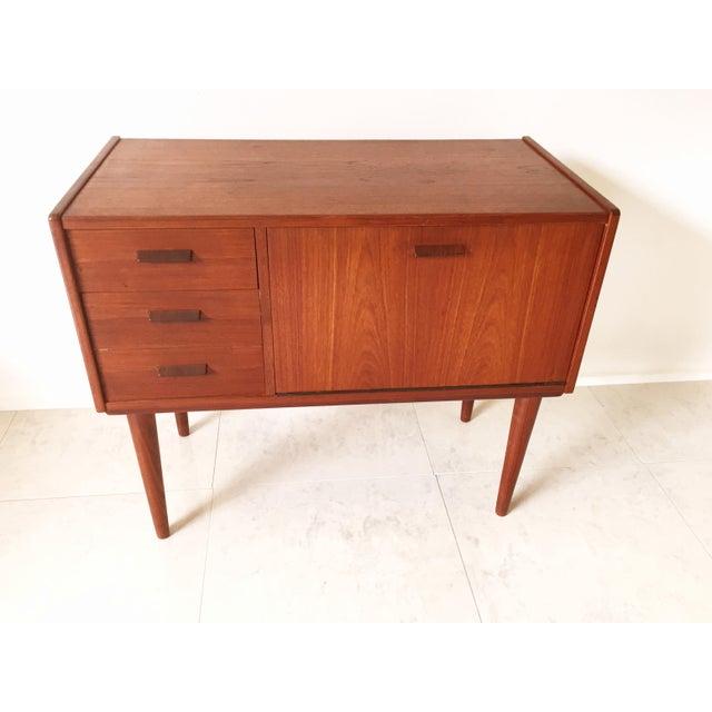 Vintage Danish Modern Teak Mini Chest Cabinet - Image 4 of 7