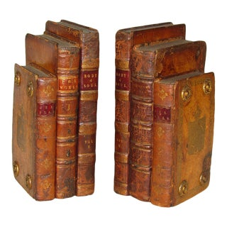 Antique English Book Bookends - a Pair For Sale