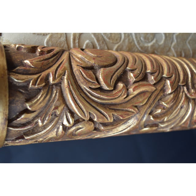 Gold 19th Century Italian Hand Carved Benches - a Pair For Sale - Image 8 of 11