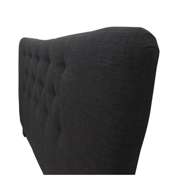 Contemporary Curved Tufted King Headboard For Sale - Image 3 of 6