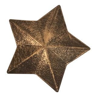Vintage Decorative Gold Star Box For Sale
