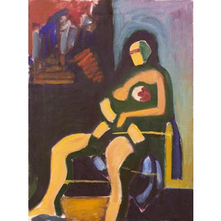 'Woman in Abstract' by New York Abstract Expressionist Angelo Ippolito, Whitney Museum For Sale