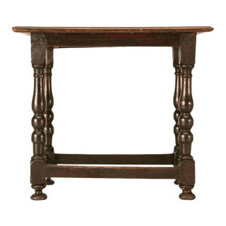 Original Rustic French Side Table For Sale