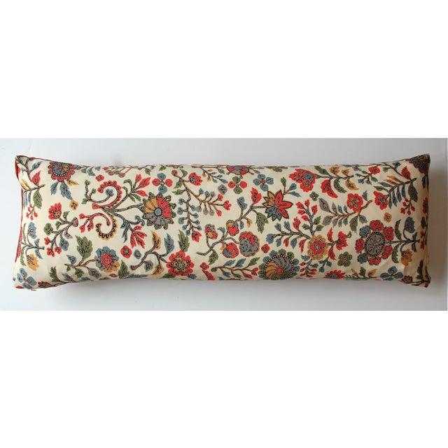 Japanese Vintage Silk Print Textile Pillow - Image 2 of 4