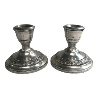 Vintage Revere Silversmiths Candlesticks - a Pair For Sale