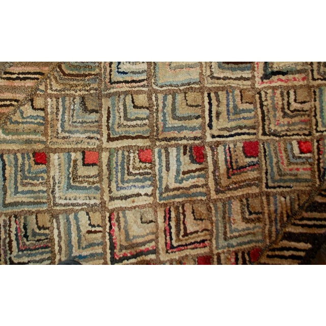 1900s Handmade Antique American Hooked Rug - 2' X 3' For Sale - Image 5 of 5