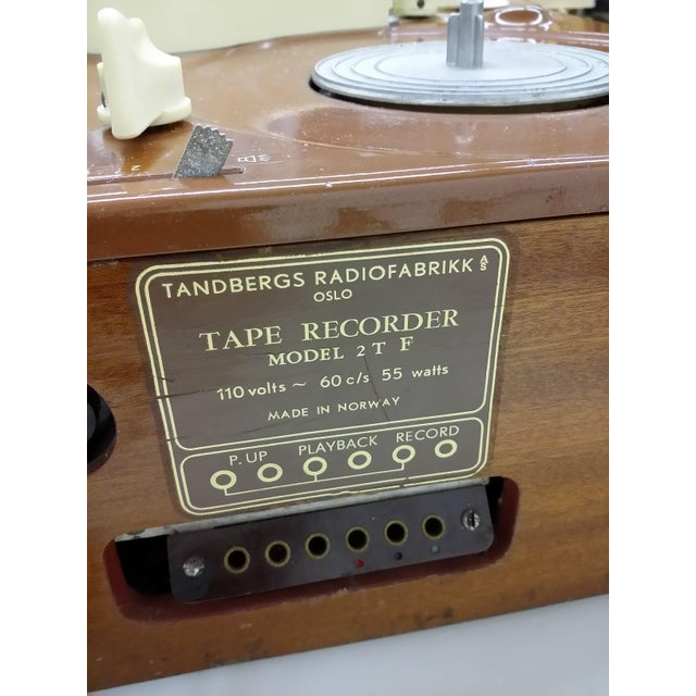 Vintage Collectible Tandberg Radiofabrikk Reel to Reel Tape Recorder For Sale - Image 7 of 10
