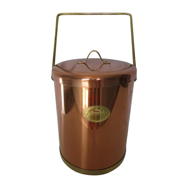 Vintage Coppertone Tall Ice Bucket - Image 1 of 7