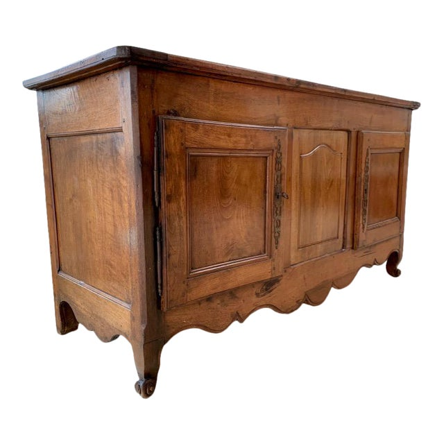 Antique Rustic French Walnut Buffet For Sale