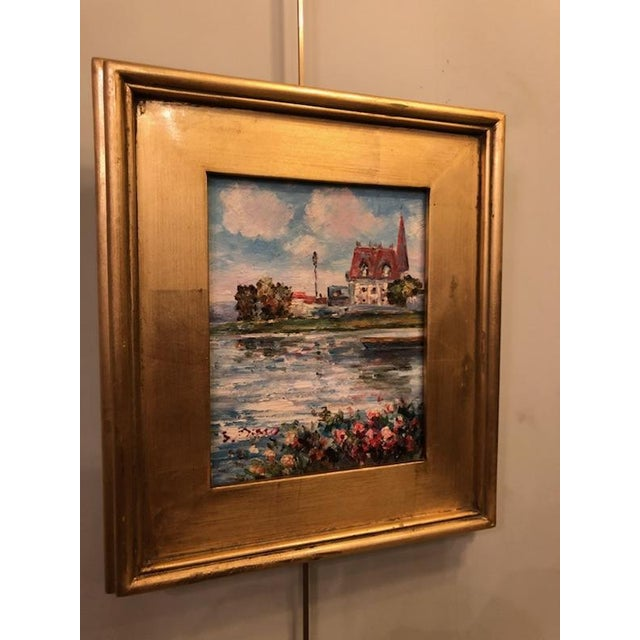 Canvas 1980s Impressionistic Water Scene Oil on Canvas Painting For Sale - Image 7 of 7