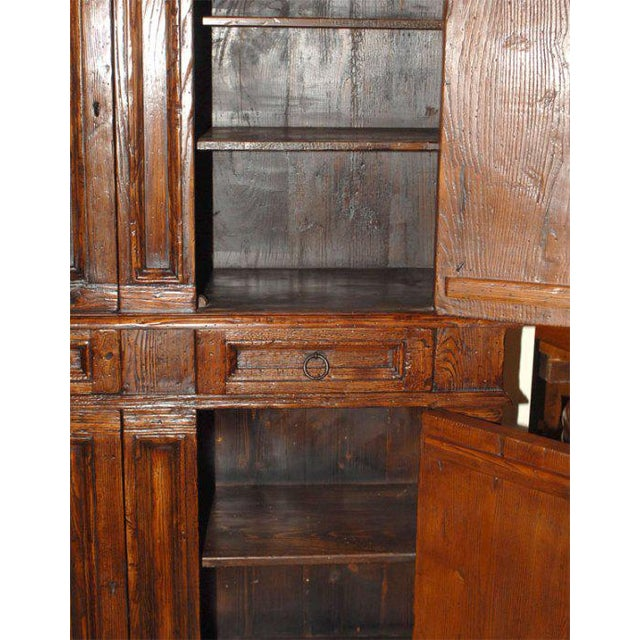 Wood Vintage Italian Elm Baroque Style Cabinet For Sale - Image 7 of 7