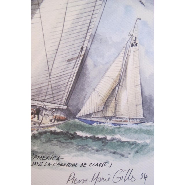 1995 America's Cup Sailing Poster, Ranger II Yacht For Sale - Image 4 of 5