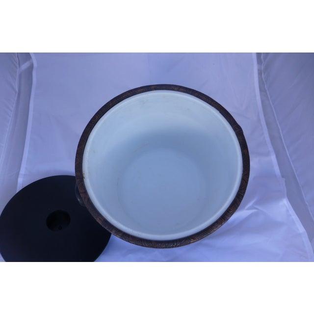 Mid-Century Modern Floral Ice Bucket - Image 6 of 7