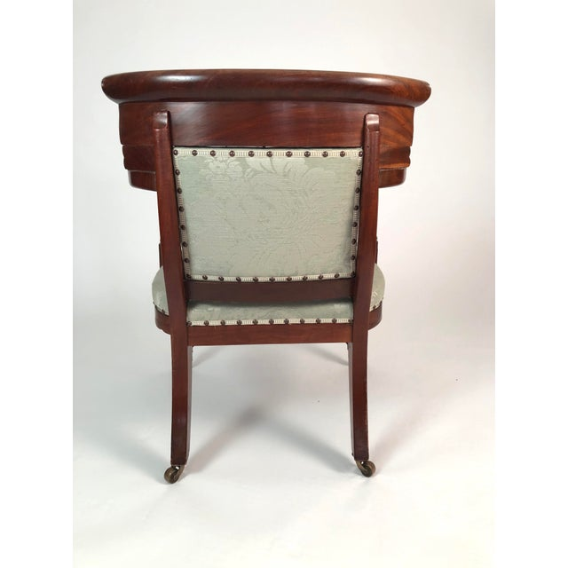 19th Century French Empire Neoclassical Armchair For Sale - Image 4 of 11