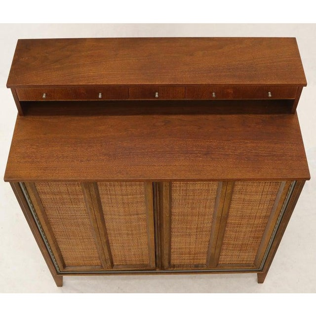 Mid 20th Century Mid-Century Modern High Chest Dresser With Separate Jewelry Compartment on Top For Sale - Image 5 of 10