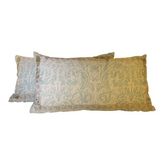 Fortuny Fabric Pillows - A Pair For Sale