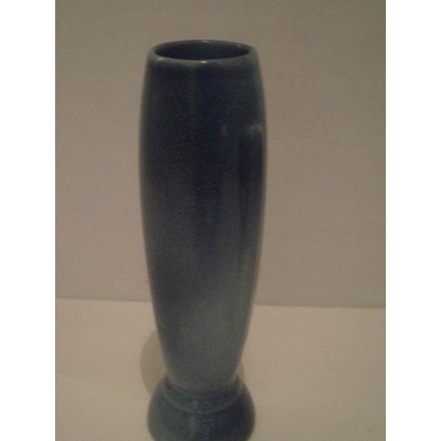 Vintage Blue Frankoma Vase - Image 6 of 9