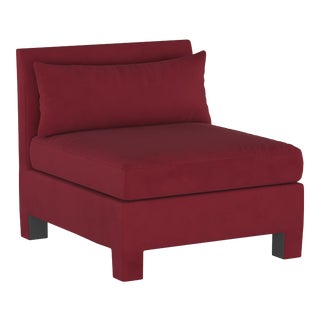 Armless Chair, Velvet Berry For Sale
