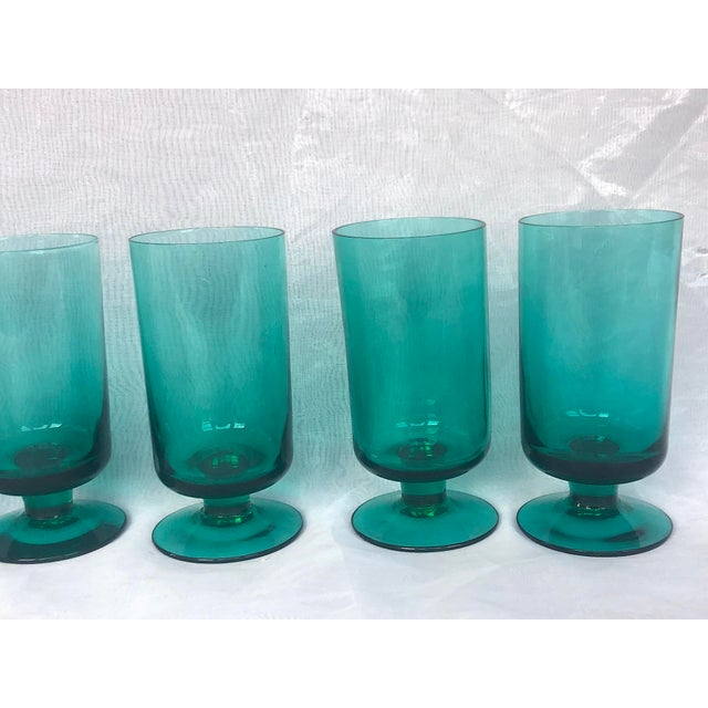 1950s Hand-Blown Swedish Juice Glasses- Set of 6 For Sale - Image 4 of 13