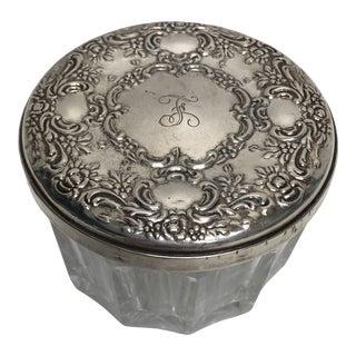 Vintage Sterling Towle Powder Jar For Sale