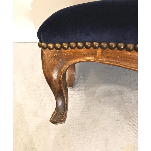 French Provincial 19th Century French Provincial Walnut Footstool For Sale - Image 3 of 6