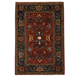 """Ziegler, Hand Knotted Area Rug - 5'4"""" X 7'10"""" For Sale"""