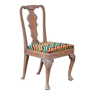18th Century Queen Anne Sidechair of Elm and Oak