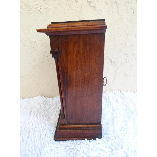 Oak Vintage Mantle Clock For Sale - Image 7 of 10