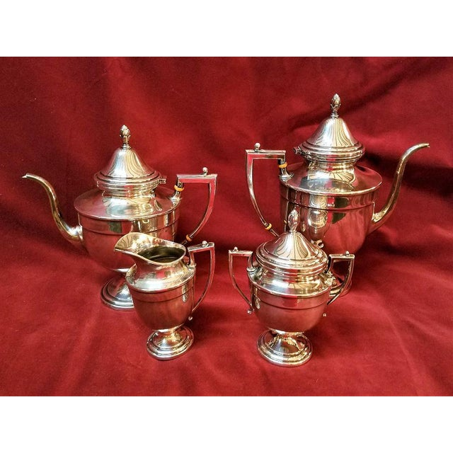 HIGHLY COLLECTIBLE solid sterling silver Coffee and Tea Service from renowned American Silversmiths, Frank M. Whiting &...